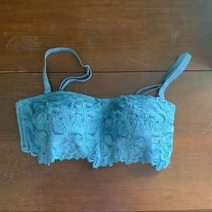 aerie small blue lace bralette NWT small